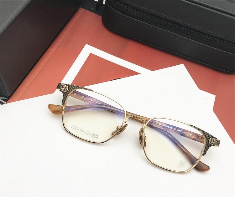 Marca Homens Titanium Óculos Frames Mulheres Vintage vidros ópticos moldura Homens Moda Armações Miopia Óculos com caixa original
