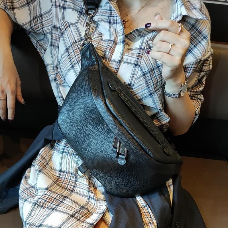 Bolsa de cinturón de cuero 100% genuino Paquetes de cintura para mujer Diseñador Bolso de hombro Ladies Bum Bum Fanny Pack Bags Bumbag