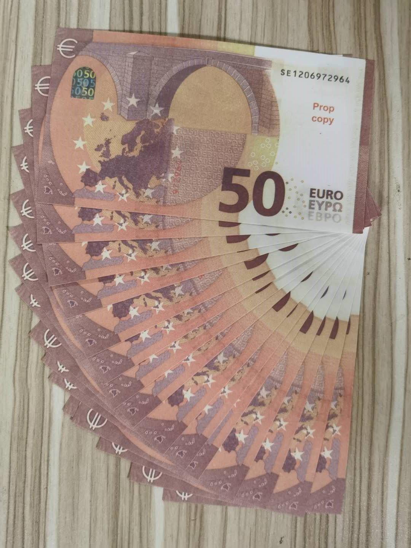 011 ORO PIEZA EUROS Venta al por mayor Falso 50 Billetes de Billetes Prop Money Paper M Billetes Bills Precios Piedra al por mayor Euro Gold Money Prop Euros Neiqk
