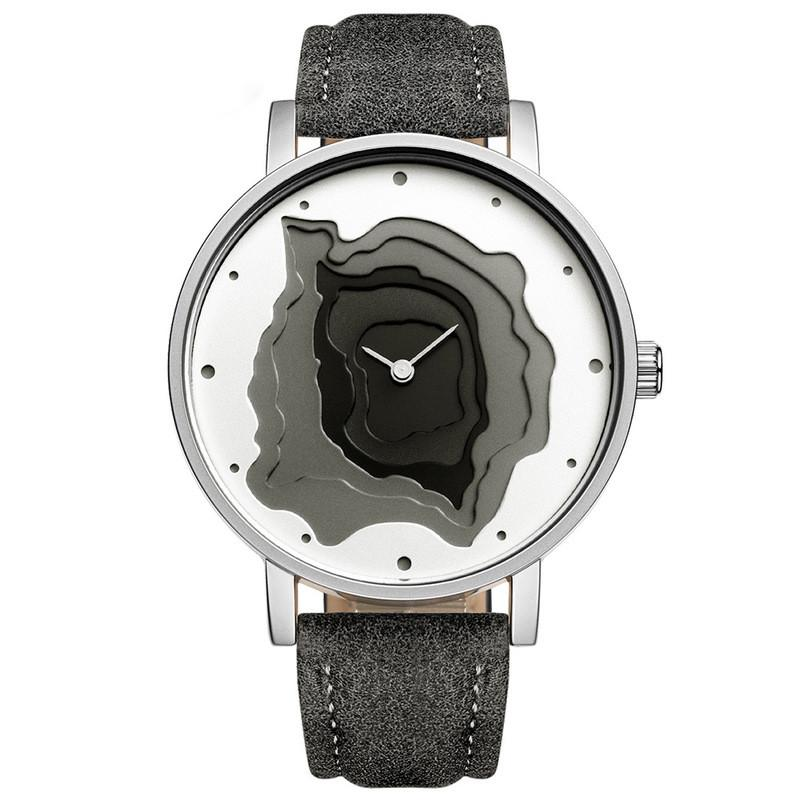 Pelle Mayforest Marca Retro Tipo dell'orologio Blu Qualità Terra Alta Concezione Semplicità orologio al quarzo Relogio Feminino