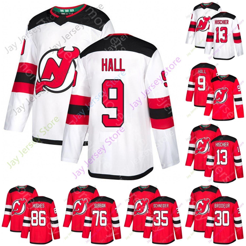 2021 2020 New Jersey Devils Jersey Jersey Jersey Jack Hughes Taylor Hally Hischier Martin Brodeur P. K. Subban Cory Schneider Taille S-3XL
