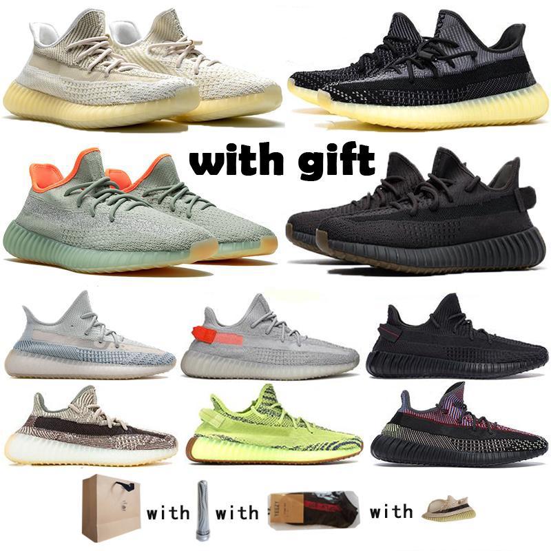 2020 Новых Kanye West V2 кроссовки Фасонного Tail Light Zebra Top Quality Yecheil крем черной Светоотражающая тапок женщины 36-48With подарок