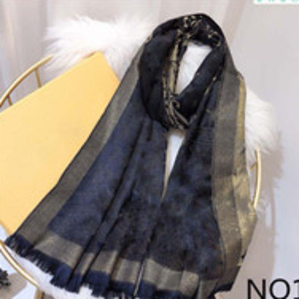 Sciarpa di seta 4 stagioni Pashmina sciarpa foglia trifoglio moda donna scialle scialle Dimensioni circa 180x70cm 7colore con confezione regalo Opzione
