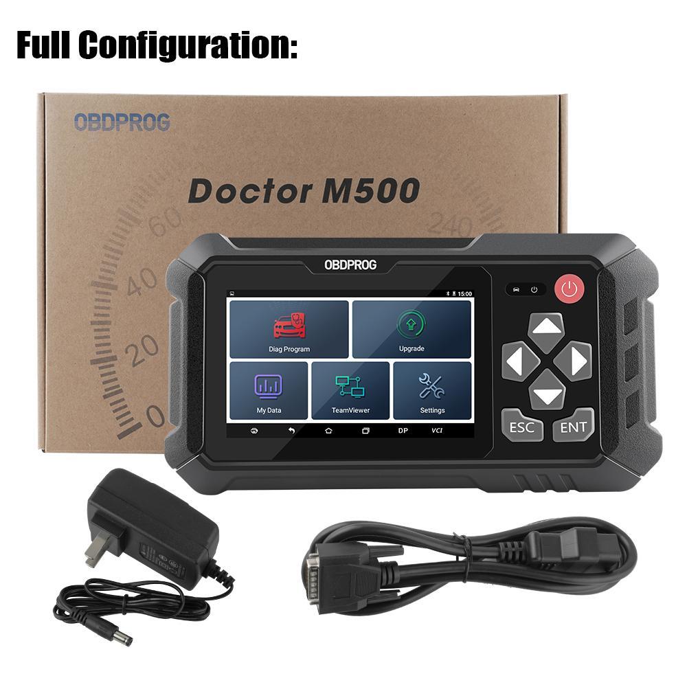 Master Blocksmith ObdProg M500 OBD2 OCD2 Tool Correzione Tool Professionale Reset Olio Professionale OBD2 Strumento di regolazione del chilometraggio Scanner Aumento diagnostico auto