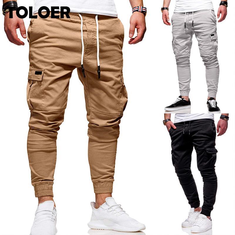 Erkekler Jogger Pantolon Yeni Moda Sweatpants Erkekler Spor Vücut Geliştirme Spor Salonları Pantolon Erkek Koşucular Giyim Sonbahar Casual Harem Pantolon 201110