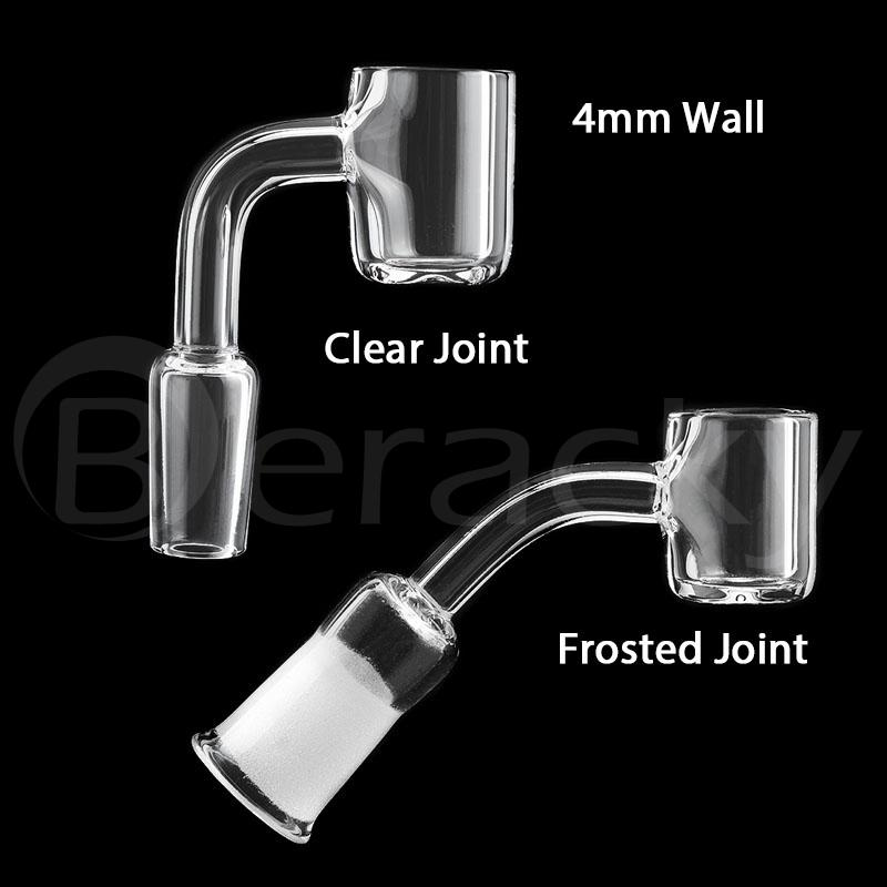 Smoking 4mm Wall 20mmOD Flat Top Quartz Banger 10mm 14mm 18mm Male Female Clear/Frosted Joint 45&90 Nails For Glass Bongs Dab Rigs