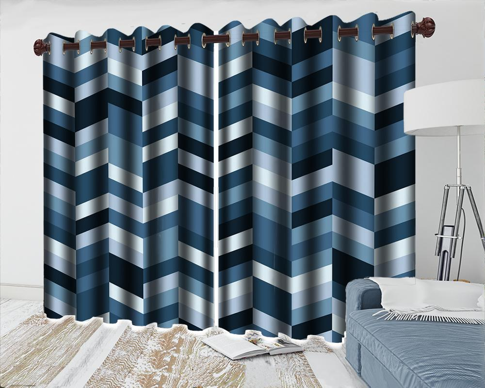 3d Mural Curtain High Quality Curtains for Living Room Exquisite Geometric Graphics Window Treatment Drapes Home Decor Curtain