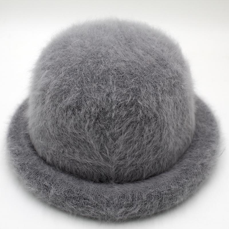 Мех Элегантный Женщины Hat купольная Короткие Брим Шляпы Женский британский ретро осень зима бассейна Cap мех Hat RC2070