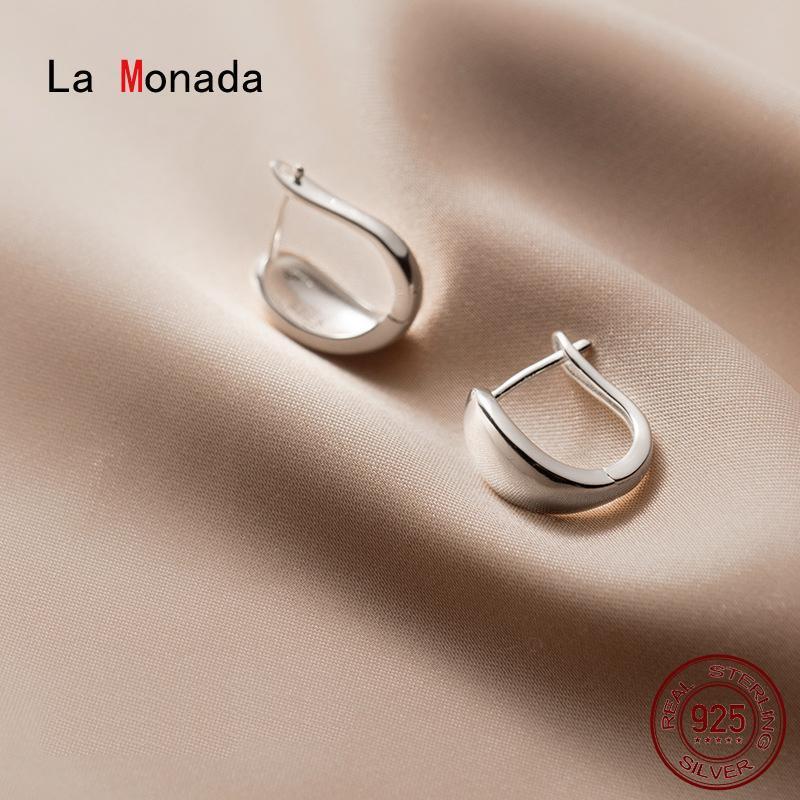 La Monada 925 Sterling Silver Piccolo Hoop orecchini per le donne Abbigliamento irregolare Coreano femminile orecchini d'argento 925 gioielli ragazze
