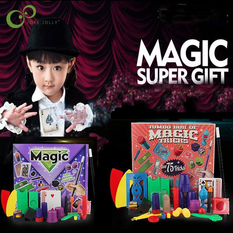 Nouveau drôle junior Magic Set pour les enfants Magic Tricks Jouets pour enfants DVD Kit pour les enfants garçons magie du spectacle Props ZXH 201014