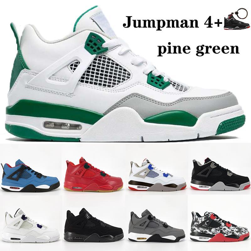 4 nouvelles 4s pin vert hommes Jumpman chaussures de basket-ball métallique violet chat noir ce que la prise jack de cactus élevé Monsoon baskets bleu mens Encore