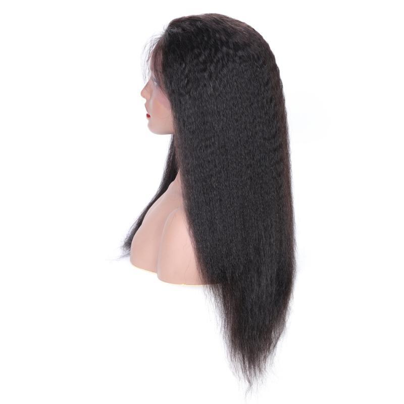% 150 Yoğunluğu İçin 13x4 Dantel Ön İnsan Saç Peruk Öncesi Mızraplı Brezilyalı Saç Kıvırcık Düz Remy İnsan 4x4 Dantel Kapatma Peruk