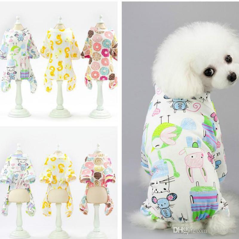 Moda pet i pagliaccetti della tuta di estate del cane tuta di cotone cane primavera vestiti 5 colori 2020 di nuovo stile