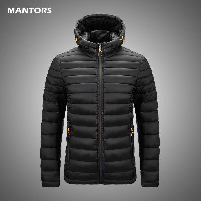 Марка Мужчины Parka Хлопок-мягкие зимние куртки пальто мужские теплые куртки Мужской Сплошной цвет с капюшоном на молнии Толстые пальто Вниз Parkas 2020