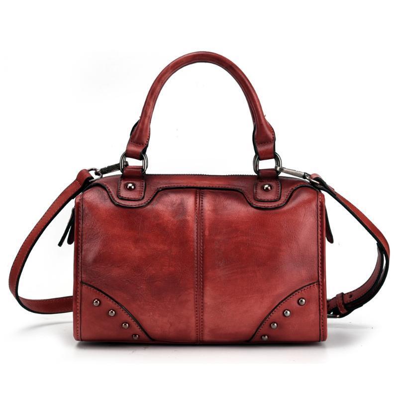 Sacs à main en cuir véritable femme femme sac sac de messager sacs sacs de haute qualité cuir épaule femme sac de crossbody rivet ncjjb