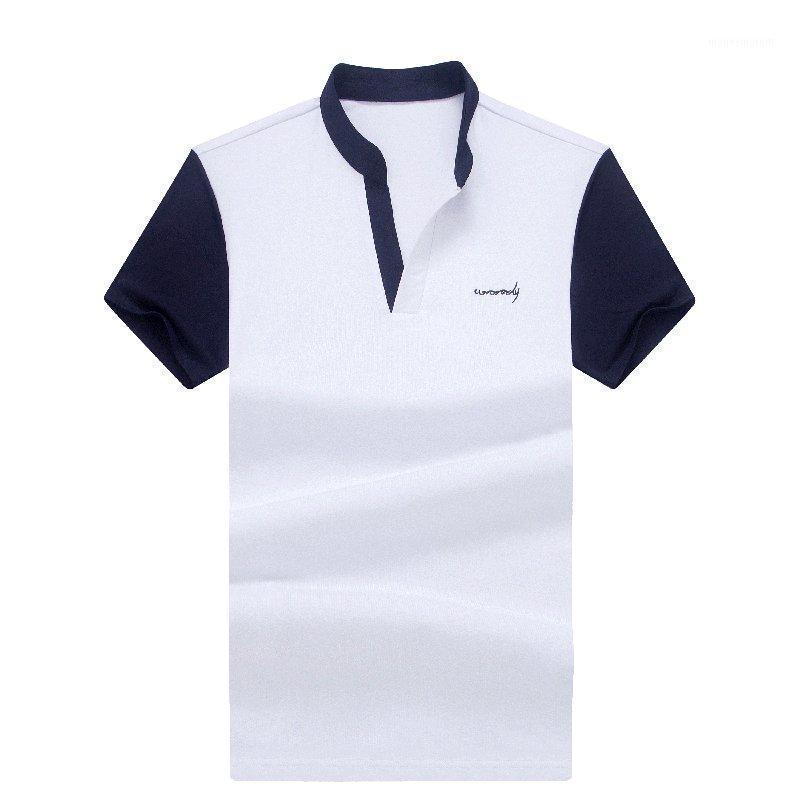 Erkek T-Shirt TFETTERS Moda Erkekler T-Shirt Rahat Kısa Kollu Stand Yaz 2021 Satış Sıkıştırma Homme Homme1