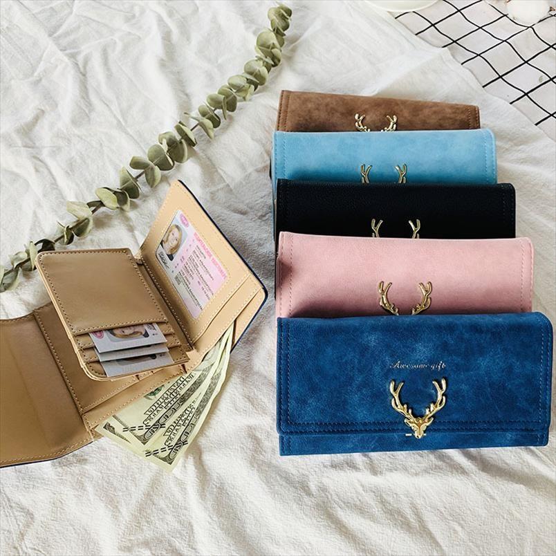 Новая мода Женская Portefeuille сцепления кошелек большой емкости кошелек Длинные Короткие монет Карманный Кожа PU Дамы дизайнер бумажники