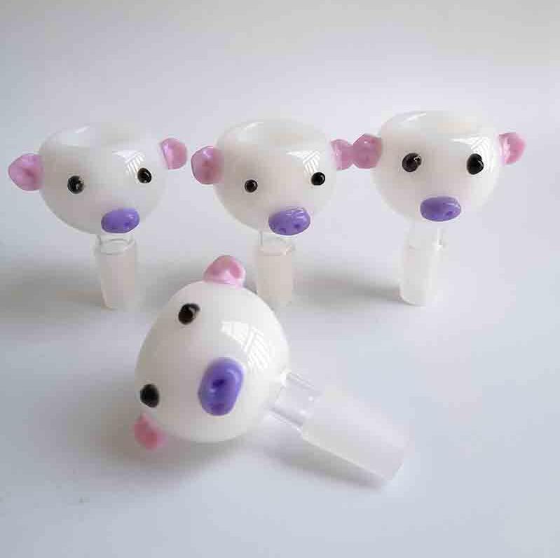 Weiße Schweinglasschüsseln Nagelrohrspitze Raucher Werkzeuge Zubehör 14mm 18mm Männchen Für Trockene Kräuter Wasserleitungen Bongs Hukässe Öl Rigs Bubbler