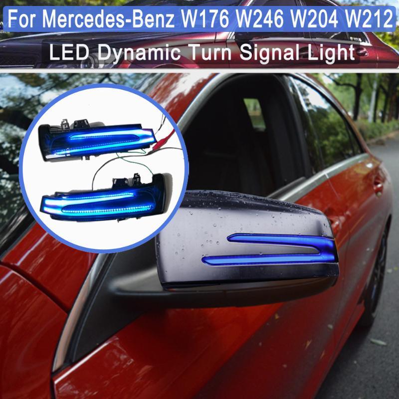LED bicolor Espejo retrovisor dinámico luz indicadora en forma para - A B C E S CLA GLA Clase CLS W176 W246 W204 W212 C117