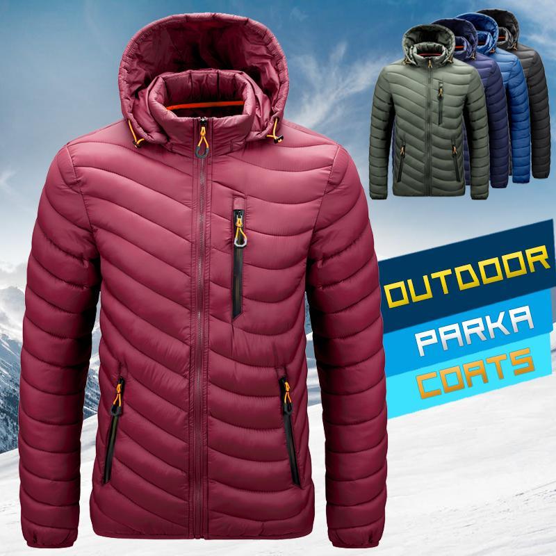Winter Windbreaker Parkas Mens Down Coat Outerwear Jacket Coats Men's New Thermal Windproof Zipper Puffer Jackets 201028
