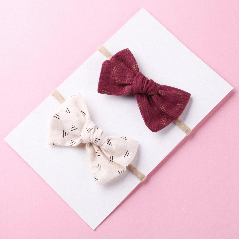 Capelli tessuto elastico Bow le fasce per il bambino di nylon ragazze archi dei capelli dei bambini Turbante Magro elastici in gomma Velvet accessori Vintage Rish nuziale #