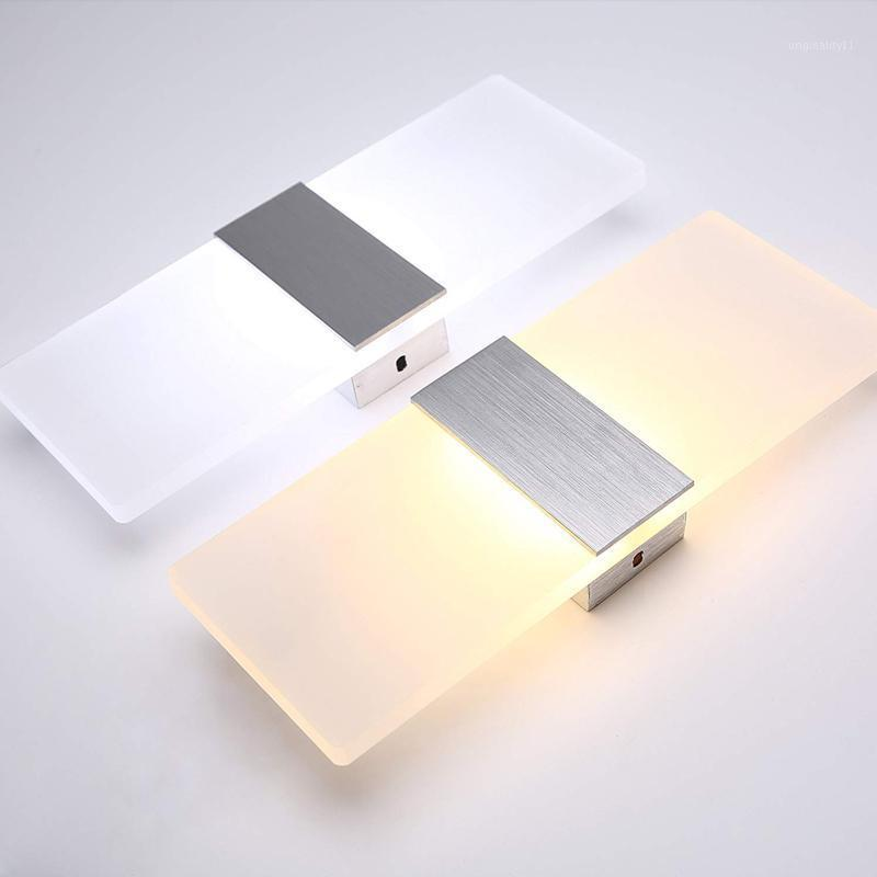 Modern Acrylic 12w LED Wall Sconces Aluminum Lights Decorative Lamps Night Light for Pathway Staircase Bedroom Balcony GentelWay1