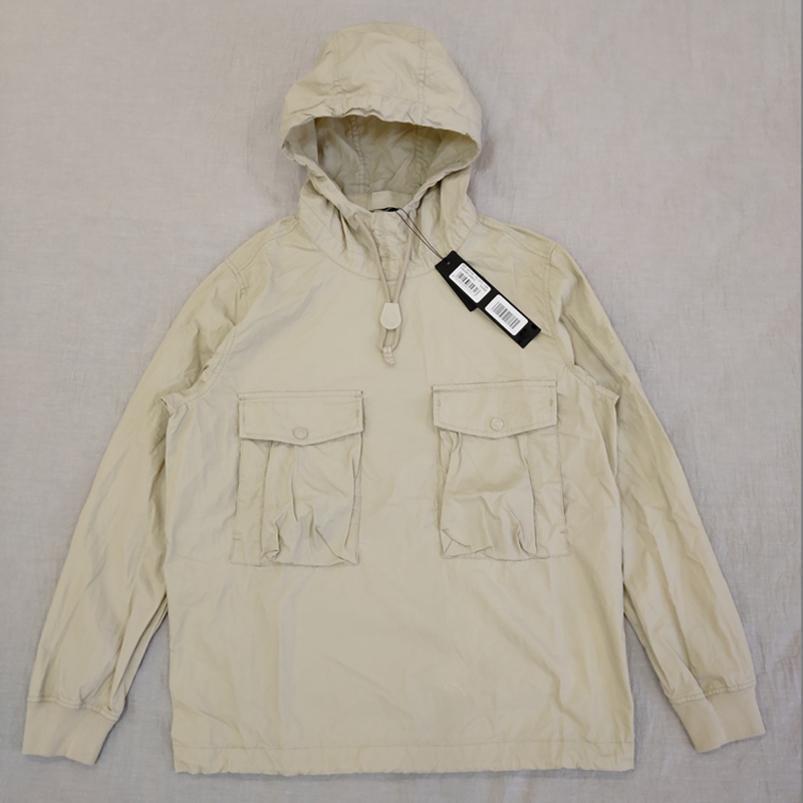 19SS Mens Designer Hoodie Ghost Piece Smock / Anorak Хлопок Нейлон Tela Пуловерная куртка Мужчины Женщины Пальто мода Верхняя одежда 639F2E45M
