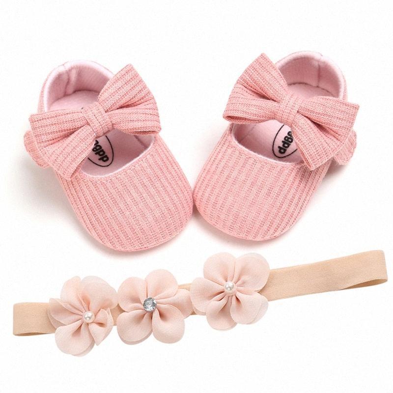 Sapatas de bebê do bebé sapatos macios suave moda fundo anti-derrapante confortável arco berço Flor Big Primeiro Walker FNjn #