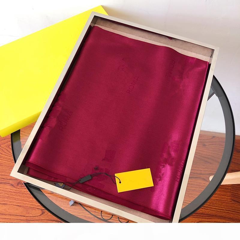 Fashion Series Lady Bufanda Diseñador Moda Moda Patrón de Seda Marca Bufanda Lady Alta Calidad Seda Bufanda 180 * 70 cm con caja original