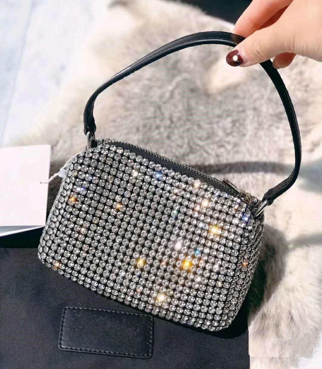 2020 WANG Haut de la haute qualité Hobo Designer Hobo Fourre-tout Femme Cristal Diamond Sacs à main Sacs à bandoulière Chaîne célèbre Sac SOHO SAC SAC DISCO