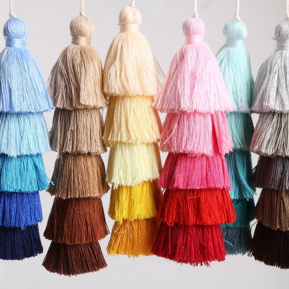 5 strati di cotone nappa nappa trims 15 cm lungo nappa per la decorazione domestica di nozze per la decorazione della casa di day tende per cucire accessori h sqcguh