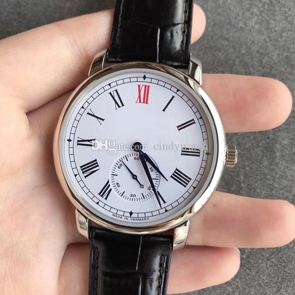 40mm thin business casual mens watch manual hand winding 1815 235.032 Classic Regulator genuine Leather Strap A.88275 233 makers wristwatch