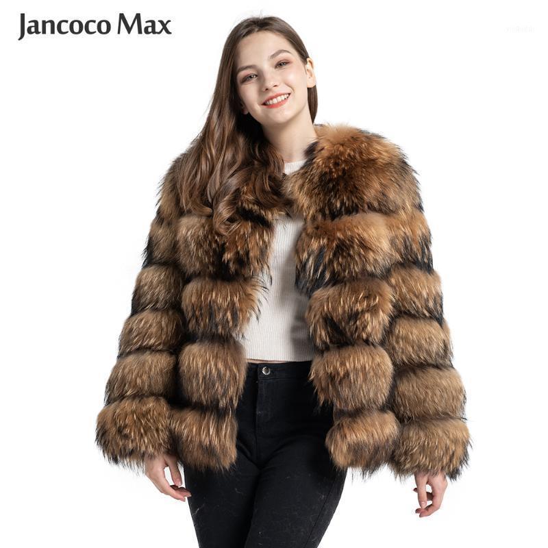 Veste à fourrure de mode Veste de la fourrure Véritable Raccoon Femme Hiver Gardez des vêtements de vêtement de luxe chauds de luxe S73751