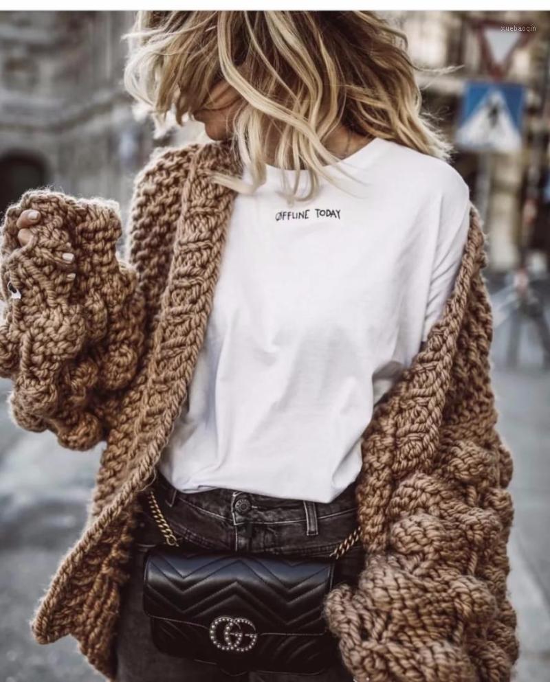 Moda estilo americano estilo americano suéter de tejer invierno cálido cardigan linterna manga casual niña ropa conjunto hecho punto cardiga1