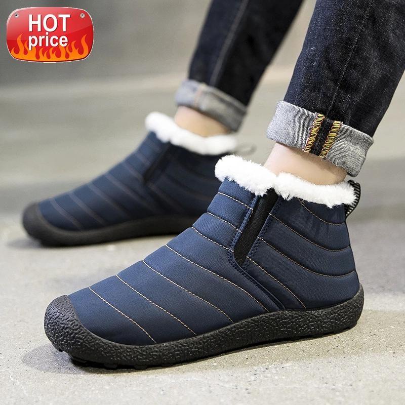 2021 novos homens botas impermeáveis homem botas homens inverno moda sapatos de tornozelo masculino para o inverno casual # 3i9x