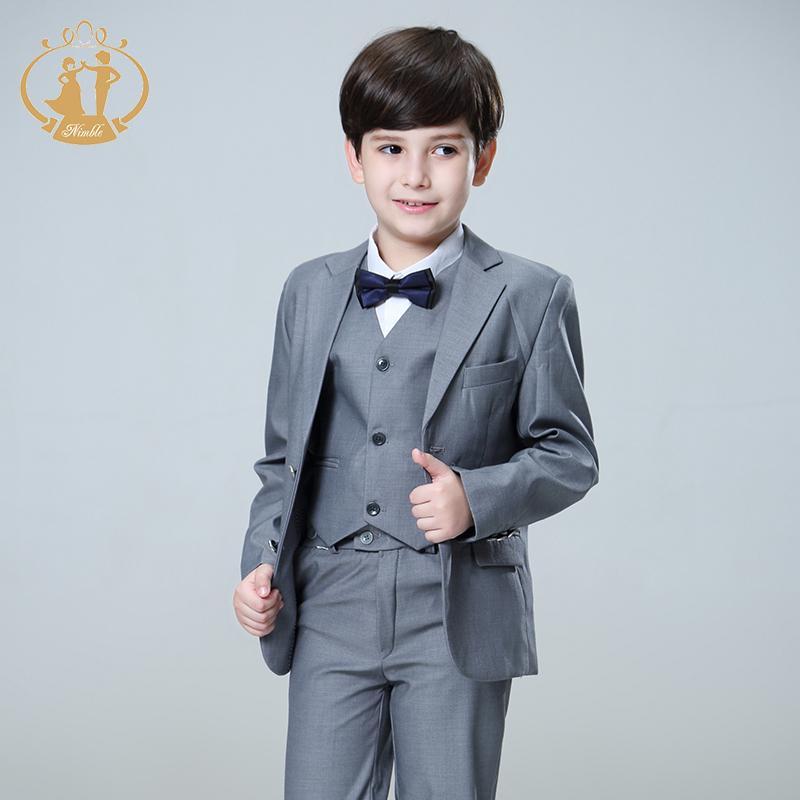Nimble Suit for Boy Terno Infantil Boys Suits for Weddings Costume Enfant Garcon Mariage Disfraz Infantil Boy Suits Formal 3pcs LJ200814