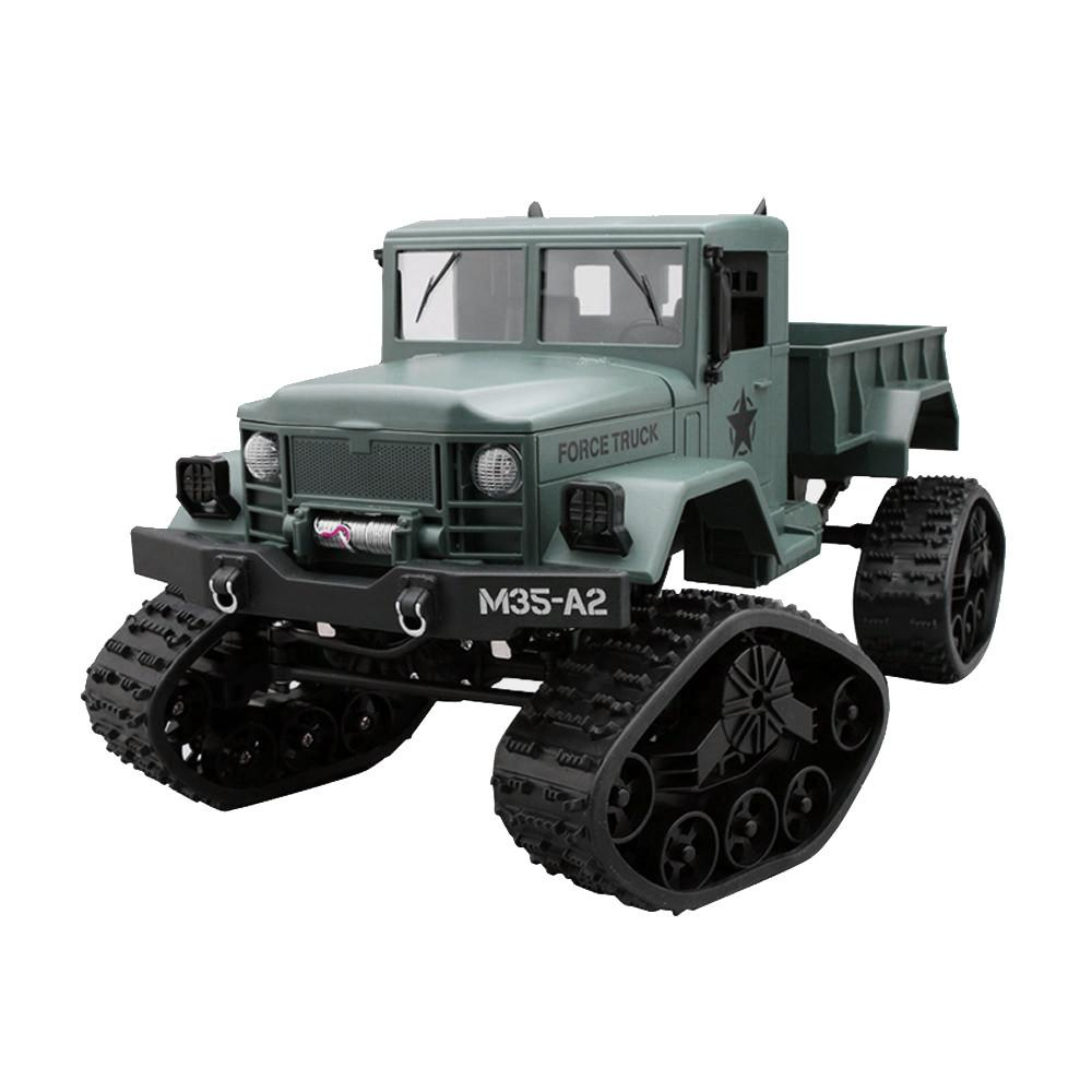 Remote control car furious machine toy RC Military Truck Army 1:16 4WD Tracked Wheels Crawler Off-Road Car RTR Toy NEW D300101