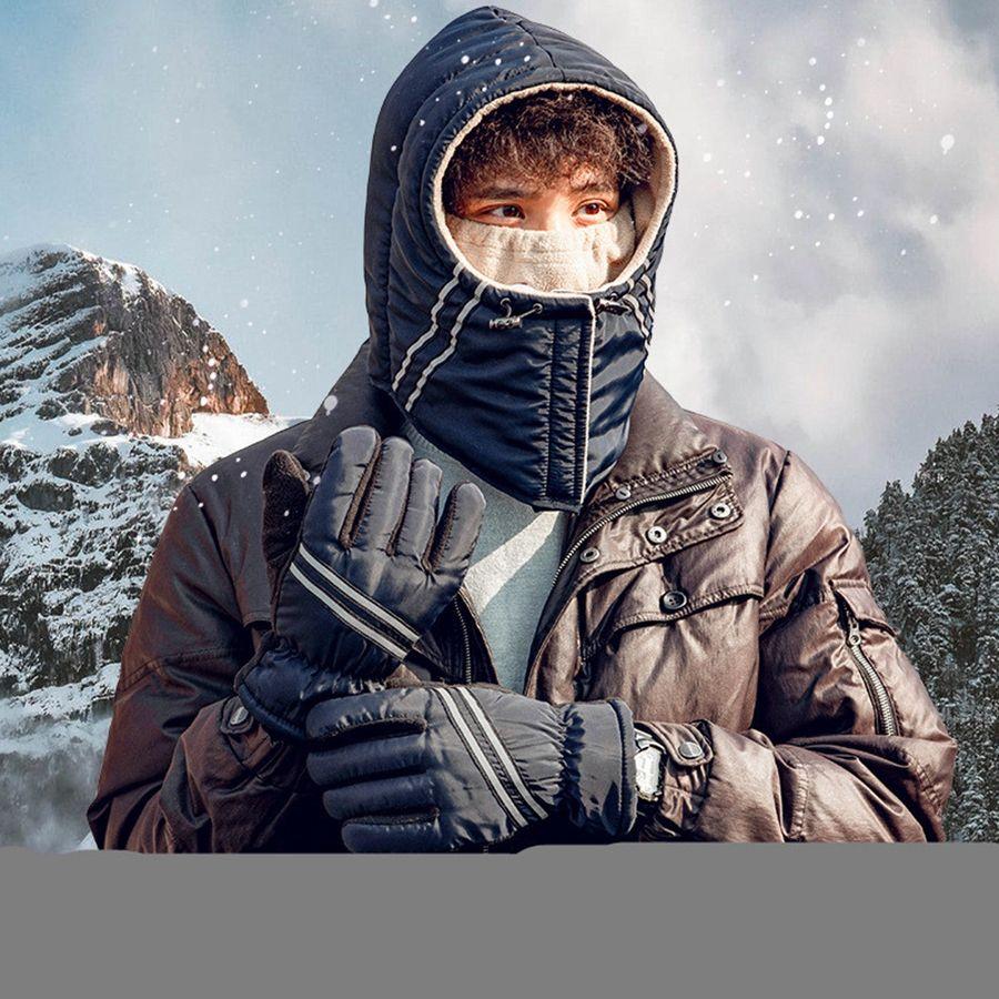 Mode Chapka extérieur du vélo unisexe anti-brouillard Casquettes Earflap neige Ski Hat Oreille hiver chaud coupe-vent Cap DDA678