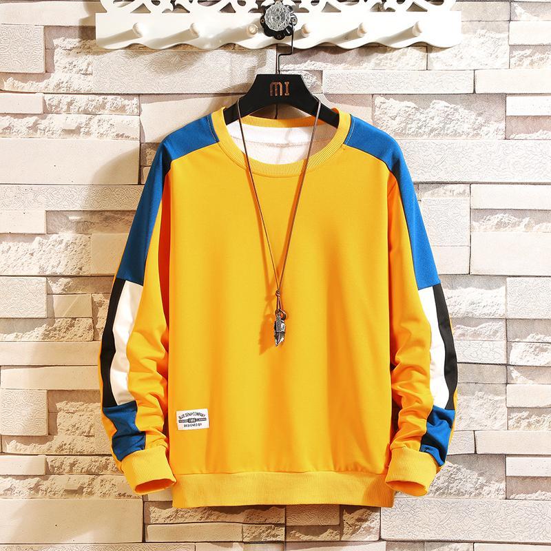 Autunno Spring Streetwear 2020 Mens Harajuku Hip Hoodie Felpe con cappuccio Casual Fashion Pullover Abbigliamento Patchwork Felpa Hop Evjcj