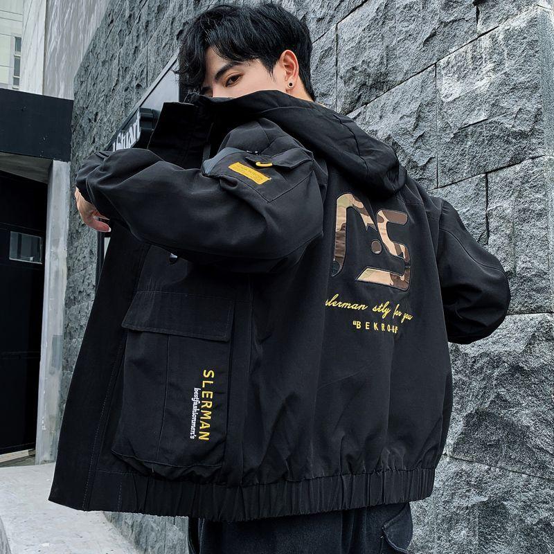 2020 Nouvelle veste d'hiver d'automne Hommes à capuche Streetwear Streetwear Non-amovible Hood Homme Mens Vestes Fashion Outwear Homme Lj201013