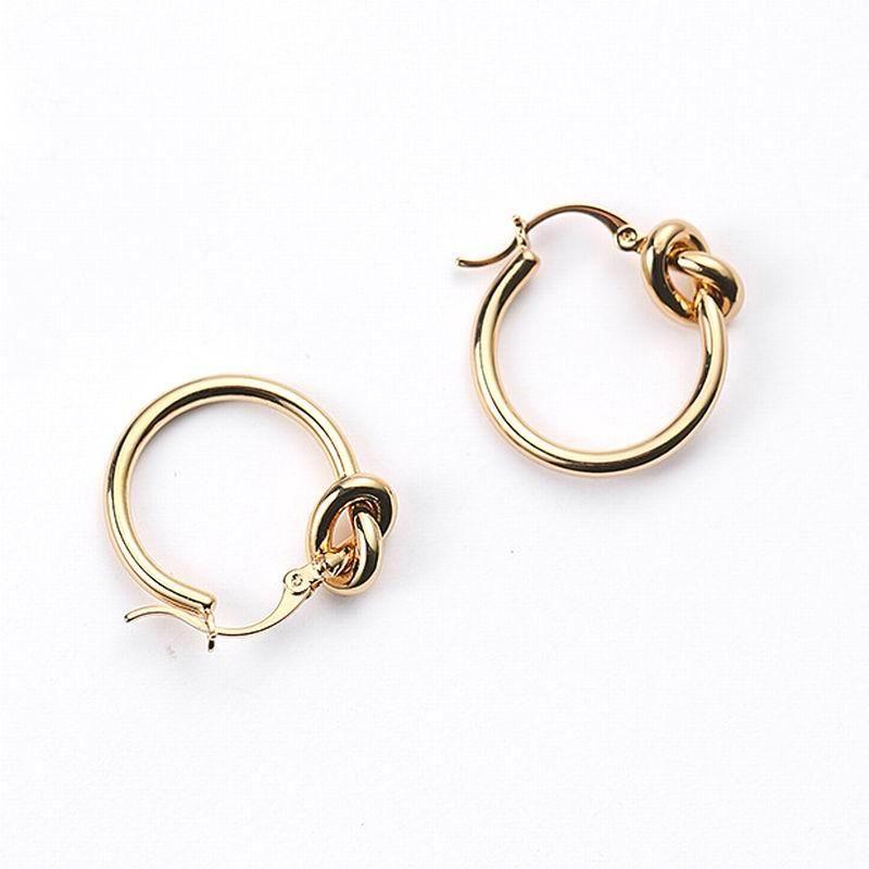 Hot Popular Popular Bloop Brincos para Mulheres Gold-Cor Moda Jóias Simples Street Style Feminino Earing Temperamento Presentes