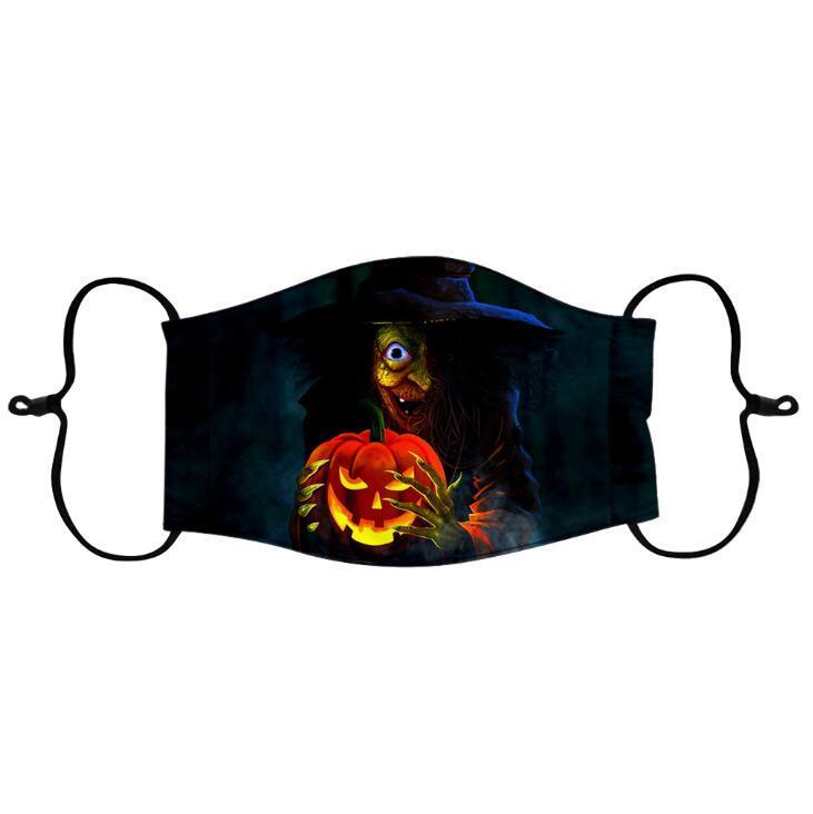 Hallowee Reusável Designer Masks Face Máscara Improvável Máscaras Respirável Rosto Impressão Dos Desenhos Animados Impressão Adulto Máscaras Ao Ar Livre EWD1 IHDT