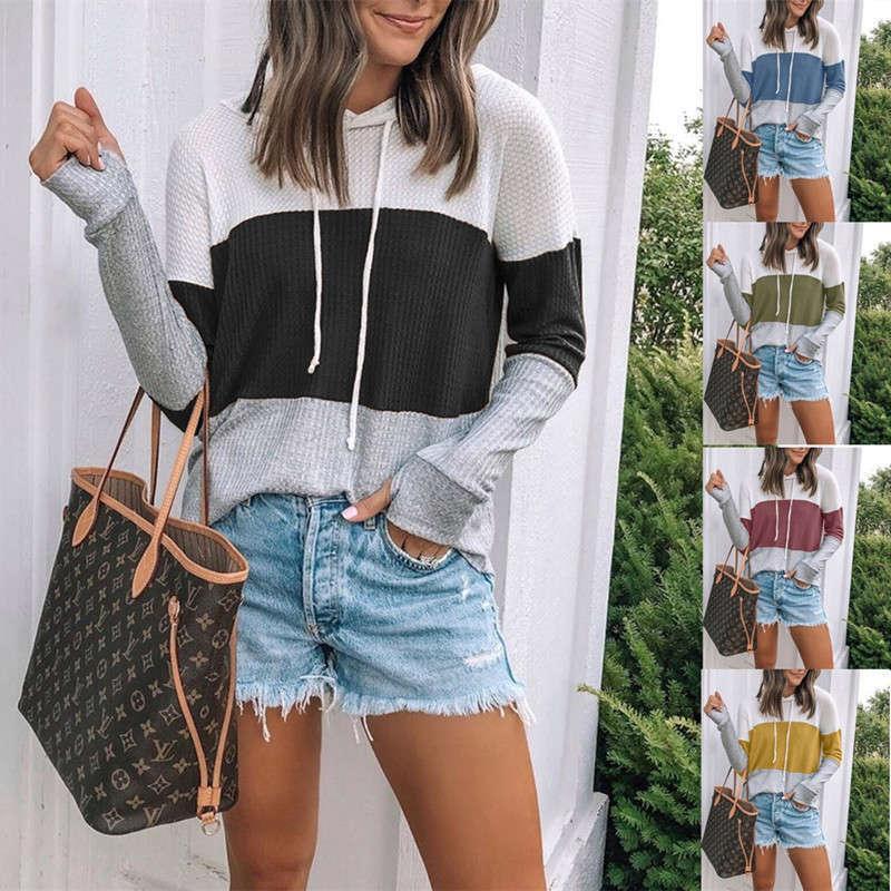 Ienbel-Mode-Pullover zum Verkauf von Farbabgleich Pullover Hoodie Top für Frauen im Jahr 2021