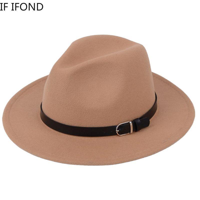Классические британские Федора Шляпа Мужчины Женщины Имитация шерстяные Зимние Фетровые Шляпы Мода Джазовая Шляпа Шляпа оптом Q1216