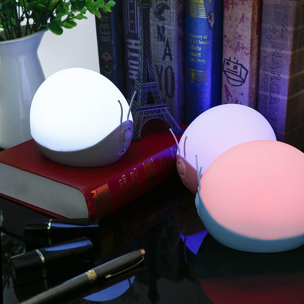 LED New Улитка Детские Night Light Функция Music Изменение цвета лампы подходит для красивой спальни