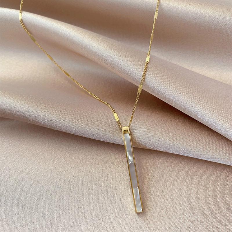 Catene delle donne Collane Collane classiche Catena di collegamento Metallo Geometric Party Collana Fashion femmina Semplice gioielli eleganti