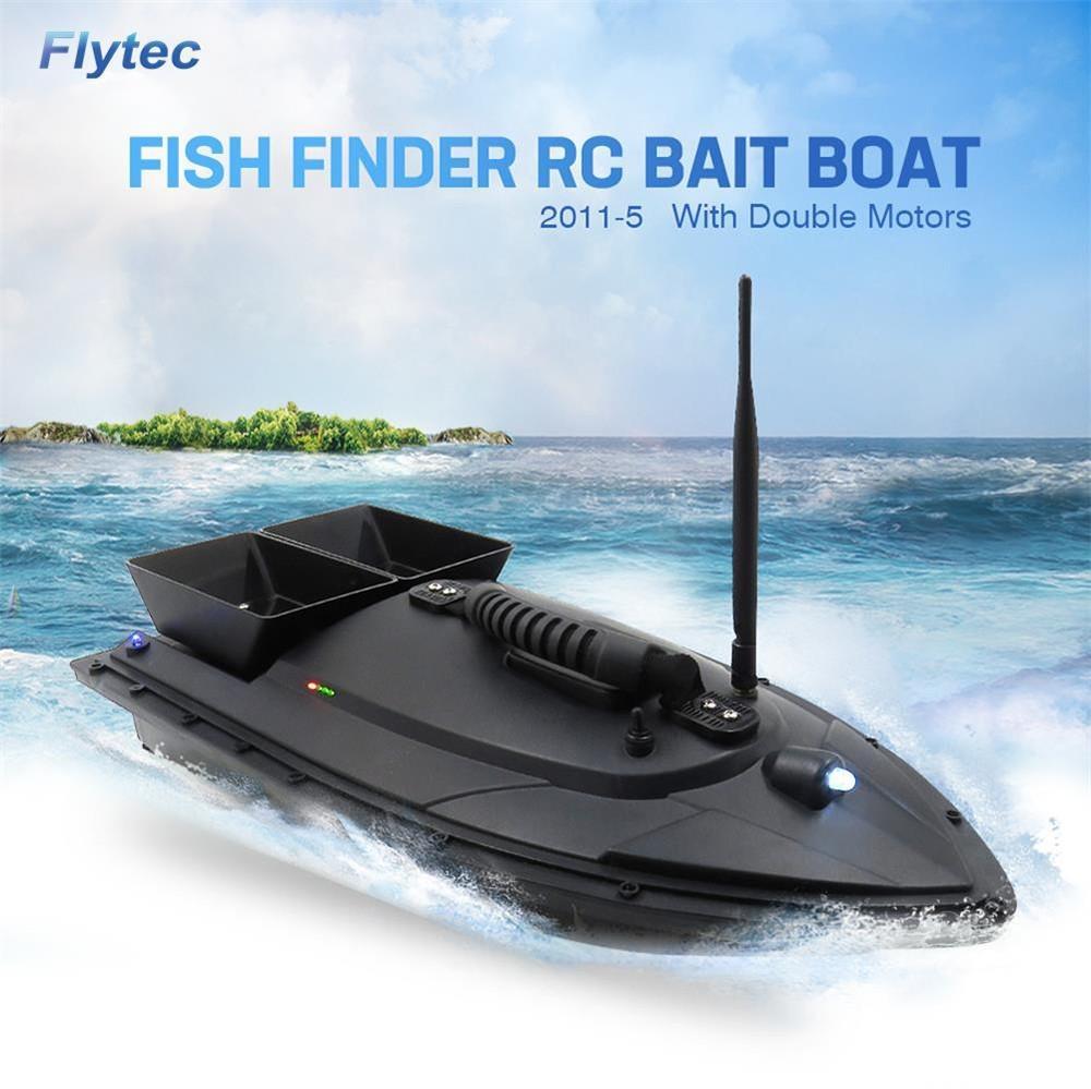 Flytec HQ2011 - 5 di pesca Strumento di 50 centimetri RC Bait Boat giocattolo doppio motore Fish Finder di pesce in barca telecomando Peschereccio Nave Speedboat 1018