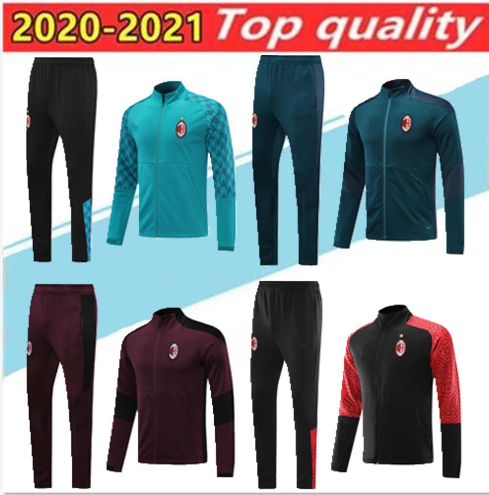 Yeni 2020 AC Milan eşofman survetement ceket 20/21 CALHANOGLU Ful futbol ceket spor eşofman Boyut S-2XL