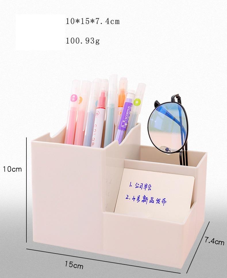 متعددة الوظائف الإبداعية الهاتف المحمول حامل القلم حامل مكتب التشطيب تخزين مربع فتاة ماكياج فرشاة حامل سطح رف