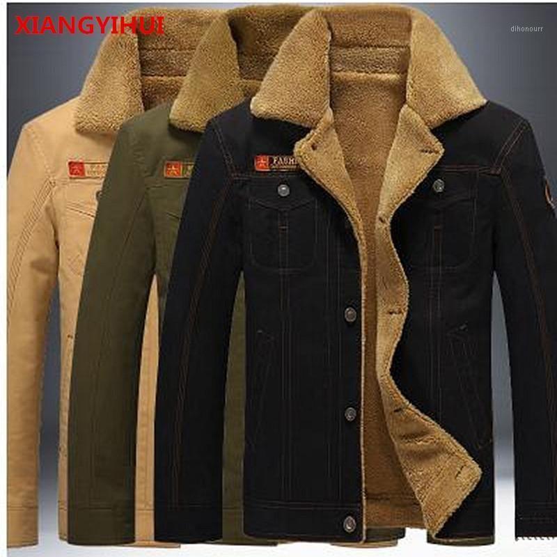 Markenqualitätsjacke Männerjacke Winddicht Armee Dicke Warme Winter Outwear Männliche Bomber Hinzufügen Wolle Baumwolle Männer M-5XL1